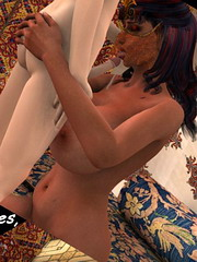Raunchy full mommy blows her son`s sturdy cock and takes it from behind